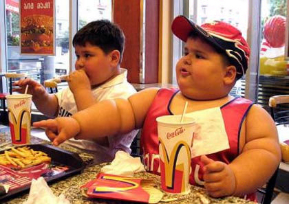 hitra prehrana, debeli otroci